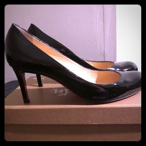 Christian Louboutin Simple Pump Black Patent 8.5